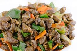 501 Куриное сердце с овощами